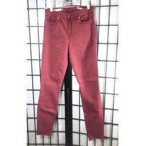 Gap Skinny Red Burgundy Jeans